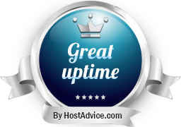 HostAdvice Great Uptime Award for Limitless Hosting